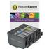 Canon PGI-9 (PBK/C/M/Y/GY) Compatible Black & Colour Ink Cartridge 5 Pack