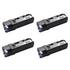 Dell 593-11040/41/33/37 (BK/C/M/Y) Original High Capacity Toner Cartridge Multipack