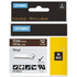 Dymo 1805412 Original White on Brown Labelling Tape 12mm x 5.5m