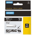 Dymo 1805432 Original White on Black Vinyl Labels 24mm x 5.5m