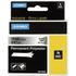 Dymo 18487 (S0718200) Original Black on Metallic Permanent Polyester Tape 19mm x 5.5m