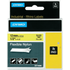 Dymo 18490 (S0718080) Original Black on Yellow Flexible Nylon Label Tape 12mm x 3.5m