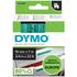 Dymo 45809 ( S0720890 ) Original D1 Black on Green Labelling Tape 19mm x 7m