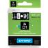 Dymo 45811 ( S0720910 ) Original D1 White on Black Labelling Tape 19mm x 7m