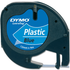Dymo 91205 ( S0721650 ) Original Black on Blue LetraTag Label Plastic Tape 12mm x 4m