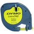 Dymo LetraTAG 91202 Yellow Plastic Tape - 12mm x 4m