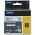 Dymo Rhino 18759 / 18489 ( S0718120 ) Original Black on White Flexible Nylon Tape 19mm x 3.5m
