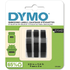 Dymo S0847730 Original White on Black Embossing Tape 9mm x 3m - 3 Pack