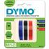 Dymo S0847750 Original Blue/Black/Red Embossing Tape 9mm x 3m - 3 Pack