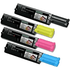 Epson S0501 (C13S050190/89/88/87) Original High Capacity Black & Colour Toner Cartridge 4 Pack
