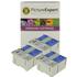 Epson T040/T041 Compatible Black & Colour Ink Cartridge 6 Pack