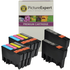 Epson T0715 Compatible Black & Colour Ink Cartridge 10 Pack