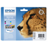Epson T0715 Original Black & Colour Ink Cartridge 4 Pack