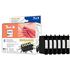 Epson T0807 Peach Compatible Black & Colour Ink Cartridge 6 Pack