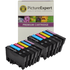 Epson T0807 Compatible Black & Colour Ink Cartridge 12 Pack