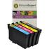Epson T1285 Compatible Black & Colour Ink Cartridge 4 Pack