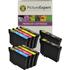 Epson T1285 Compatible Black & Colour Ink Cartridge 10 Pack