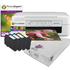 Epson XP-247 Expression Wireless Printer + Set of compatible Ink cartridges + plain and photo paper