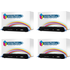 HP 124A ( Q6000A ) Compatible Black Toner Cartridge Quad Pack