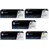 HP 128A (CE320 / CE321 / CE323 / CE322) Original Black and Colour Toner Cartridge 5 Pack *100 Cashback*