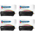 HP 12A ( Q2612A ) Compatible Black Toner Cartridge Quad Pack