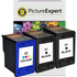 HP 21 / 22 Compatible Black x2 & Colour x1 Ink Cartridge 3 Pack