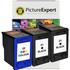 HP 21 / 22 Compatible Black x2 & Colour x1 Ink Cartridge 3 Pack