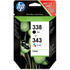 HP 338 / 343 ( SD449EE ) Original Black and Colour Ink Cartridge Pack