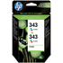 HP 343 ( CB332EE ) Original Standard Capacity Colour Ink Cartridges x2