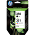 HP 350 ( CB335EE ) and HP 351 ( CB337EE ) Original Black and Colour Ink Cartridge Pack