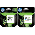 HP 350XL ( CB336EE ) and HP 351XL ( CB338EE ) Original Black and Colour High Capacity Ink Cartridge Pack