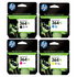 HP 364XL Original Black and Colour High Capacity Ink Cartridge 4 Pack