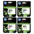 HP 364XL Original Black and Colour High Capacity Ink Cartridge 4 Pack