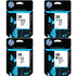 HP 38 Original MBK/LC/LM/LGY Ink Cartridge 4 pack