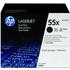 HP 55X ( CE255XD ) Original High Yield Black Toner Cartridge Twinpack