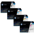 HP 642A (CB400 / CB401 / CB403 / CB402) Original Black and Colour Toner Cartridge Pack *50 Cashback*