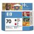 HP 70 ( C9409A ) Original Matte Black and Red Printhead