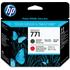 HP 771 ( CE017A ) Original Matte Black / Chromatic Red Printhead