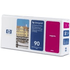 HP 90 ( C5056A ) Original Magenta Printhead and Printhead Cleaner