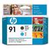 HP 91 ( C9460A ) Original Matte Black and Cyan Printhead