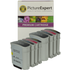 HP 940xl ( C4906 / C4907 / C4908 / C4909 ) Compatible Black and Colour 8 Ink Cartridge Pack