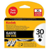 Kodak No.30XL / 3958048 Original High Capacity Black Ink Cartridge Twin Pack