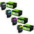 Lexmark 802H High Capacity Original Black & Colour Toner 4 Pack