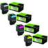 Lexmark 802X Extra High Capacity Original Black & Colour Toner 4 Pack