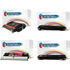 Lexmark C5220, C5222 Bk/C/M/Y Multipack of Compatible Toner Cartridges