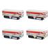 OKI 4425072 (BK/C/M/Y) Original High Capacity Black & Colour Toner Cartridge Multipack