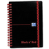 Polypropylene Black & Red A6 90gsm Wirebound Ruled Notebook (140 Pages)