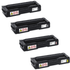 Ricoh 40753 Original Black & Colour Toner Cartridge 4 Pack