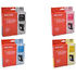 Ricoh GC-21K/C/M/Y Original Black & Colour Gel Cartridge Multipack