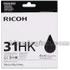 Ricoh GC31HK Original High Yield Black Gel Ink Cartridge